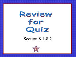 Review  for  Quiz