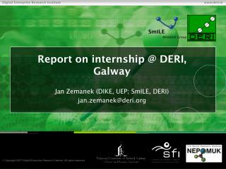 Report on internship @ DERI, Galway