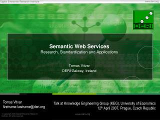 Semantic Web Services Research, Standardization and Applications