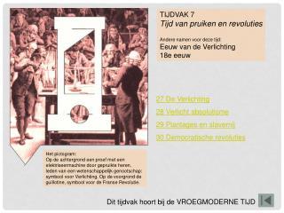 TIJDVAK 7 Tijd van pruiken en revoluties Andere namen voor deze tijd: Eeuw van de Verlichting