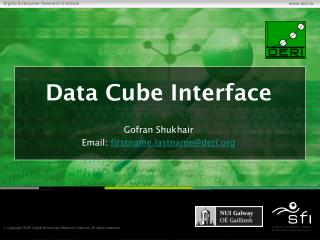 Data Cube Interface