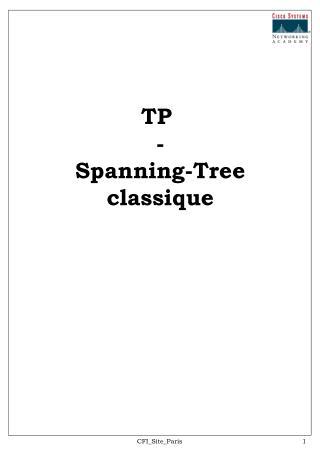 TP  - Spanning-Tree classique