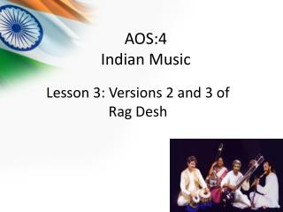 AOS:4 Indian Music