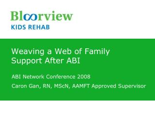 Weaving a Web of Family Support After ABI