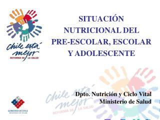 SITUACIÓN   NUTRICIONAL DEL  PRE-ESCOLAR, ESCOLAR Y ADOLESCENTE
