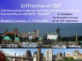 Diffraction at CDF