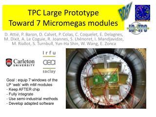 TPC Large Prototype Toward 7 Micromegas modules