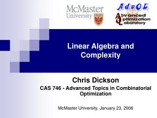 Linear Algebra and Complexity