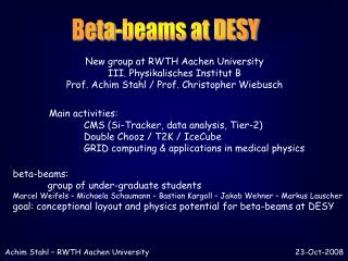Beta-beams at DESY