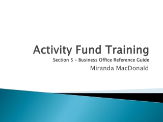 OFFICE COLLECTIONS TRAINING GUIDE