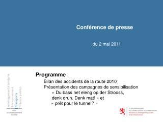 Conférence de presse du 2 mai 2011