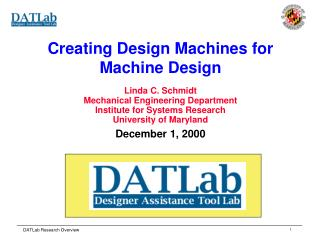 Creating Design Machines for Machine Design