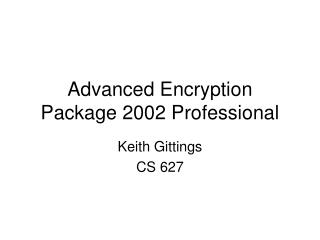 Advanced Encryption Package 2002 Professional