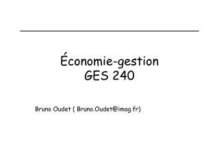 Économie-gestion GES 240
