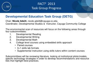 Developmental Education Task Group (DETG)