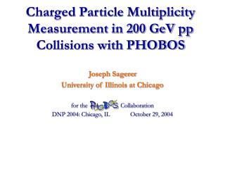 Charged Particle Multiplicity Measurement in 200 GeV pp Collisions with PHOBOS