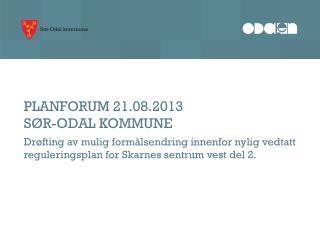 PLANFORUM 21.08.2013 SØR-ODAL KOMMUNE