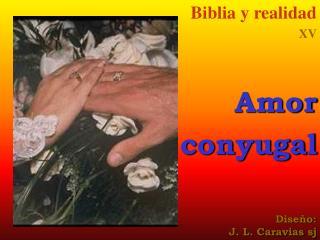 Biblia y realidad XV Amor conyugal Diseño: J. L. Caravias sj
