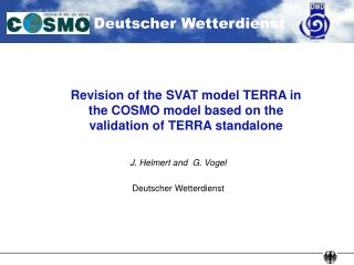 Revision of the SVAT model TERRA in the COSMO model based on the validation of TERRA standalone