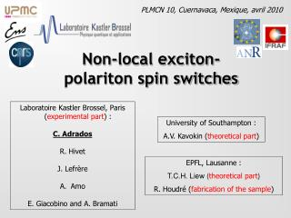 Non-local exciton-polariton spin switches