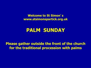 Entry Procession with Palms