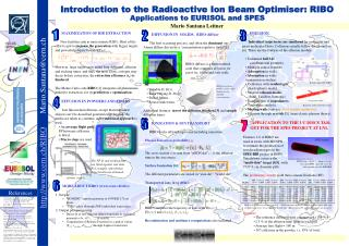 Introduction to the Radioactive Ion Beam Optimiser: RIBO  Applications to EURISOL and SPES