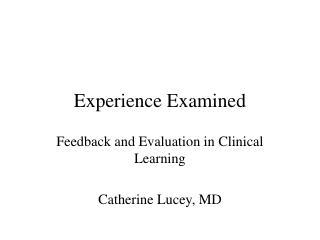 Experience Examined