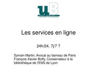 Les services en ligne