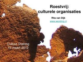 Roestvrij:  culturele organisaties
