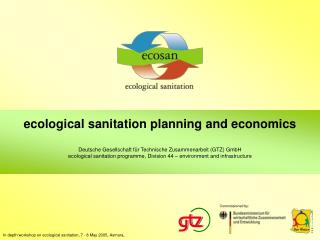 ecological sanitation  p lanning and economics