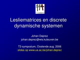 Lesliematrices en discrete dynamische systemen