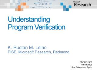 Understanding Program Verification