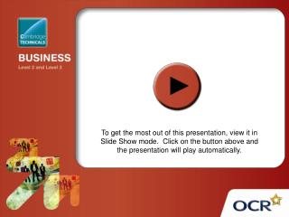 OCR Level 3 Cambridge Technicals in Business