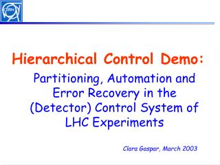 Hierarchical Control Demo: