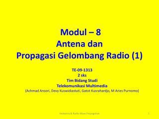 Modul – 8 Antena dan  Propagasi Gelombang Radio (1)