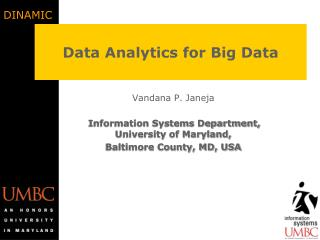 Data Analytics for Big Data