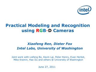 Practical Modeling and Recognition using RGB-D Cameras