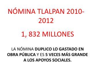 N ÓMINA TLALPAN 2010-2012