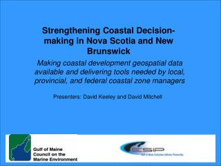 Strengthening Coastal Decision-making in Nova Scotia and New Brunswick