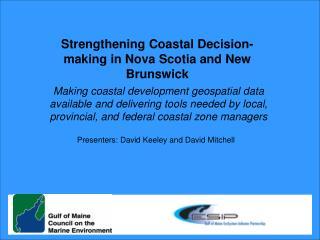 Strengthening Coastal Decision-making in Nova Scotia and New Brunswick