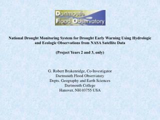 DFO Contributions to the National Drought Monitor