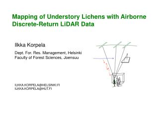 Mapping of Understory Lichens with Airborne Discrete-Return LiDAR Data