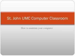 St. John UMC Computer Classroom
