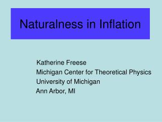 Naturalness in Inflation