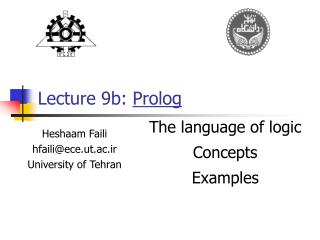 Lecture 9b:  Prolog