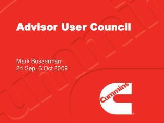 Advisor User Council