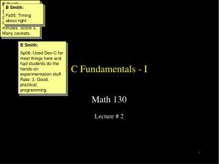 C Fundamentals - I