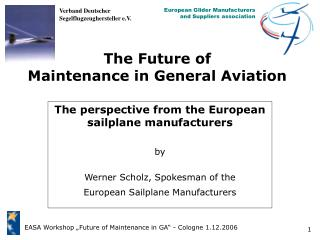 The Future of Maintenance in General Aviation