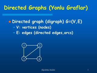 Directed Graphs (Yonlu Graflar)