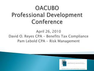 OACUBO Professional Development Conference